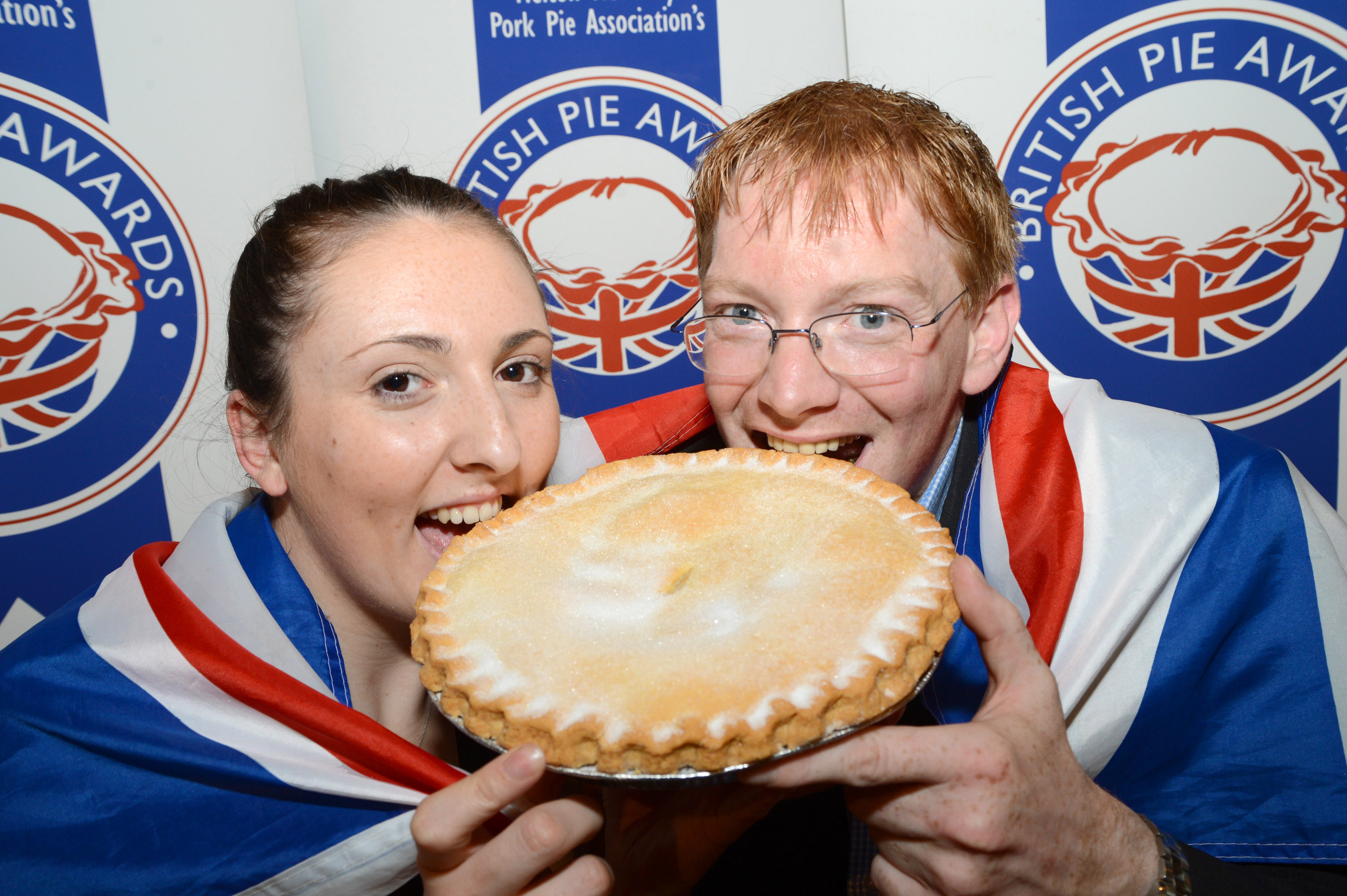 British Pie Awards Supreme Champion Bramley Apple Pies.